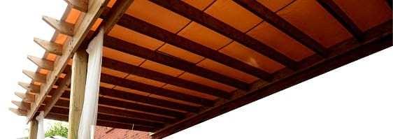 Waterproof awning with visible seams