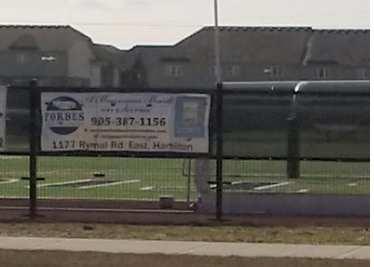 Banner on mesh tarp