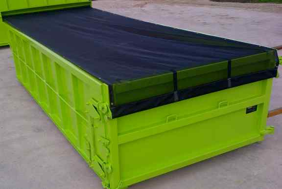 Container roll-tarp