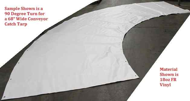 Conveyor debris tarp