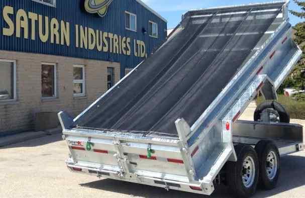 Mesh dumper trailer tarp