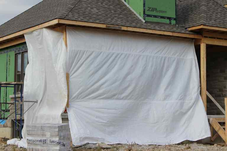 Fire Retardant Construction Tarps