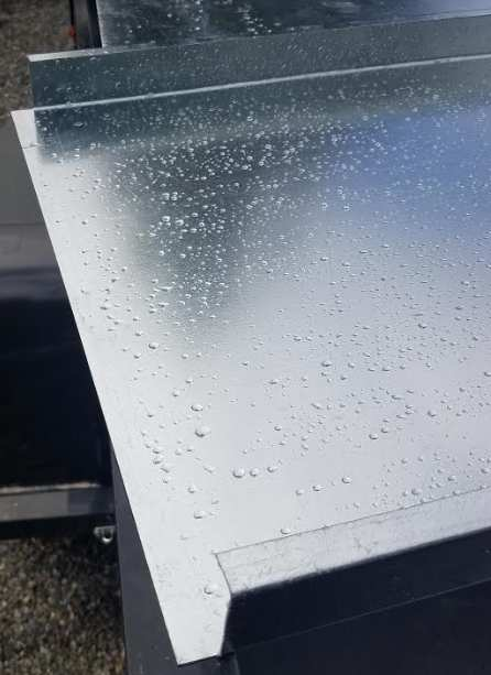 Formed sheet metal top