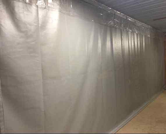 Garage divider tarps