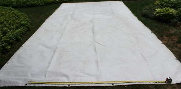 Determine where you want to fold your tarp