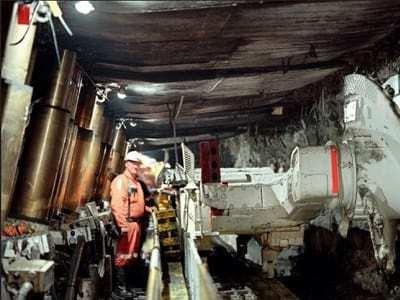 Tarp used in underground mine