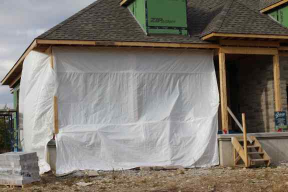 All purpose construction tarp
