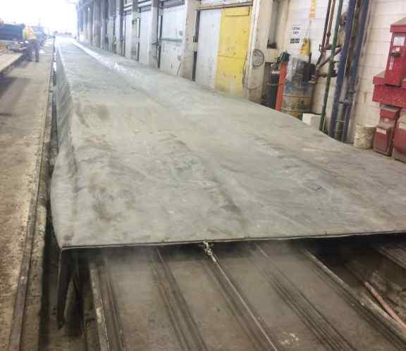 Precast concrete tarp