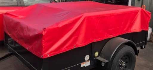 Red fitted tarp