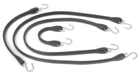Load rated rubber tie down straps