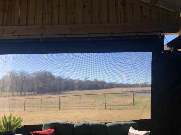 Heavy duty screen room tarps