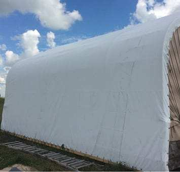 Vinyl shed cover