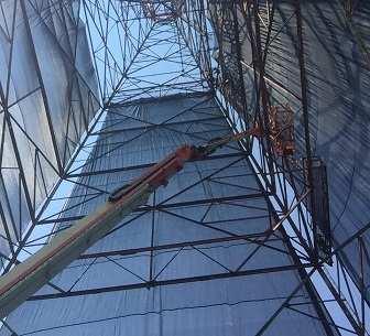 Trapezoid mesh tarp