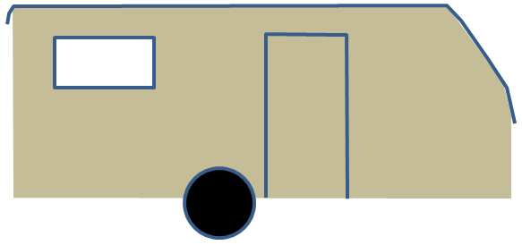 Travel trailer cover - side view