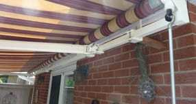 Stripped awning