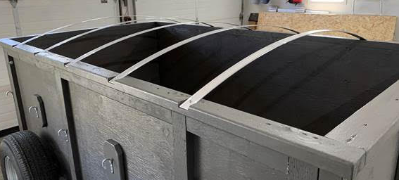 Bows can be used to contour the top of your trailer to allow run-off