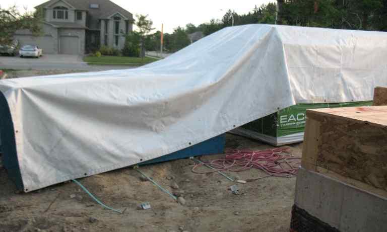 White vinyl tarp