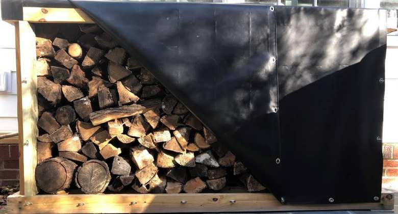 Wood shed cover